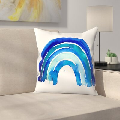 Paula Mills Big Rainbow Throw Pillow Size: 20 x 20