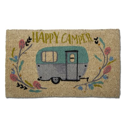 Happy Camper Coir Doormat