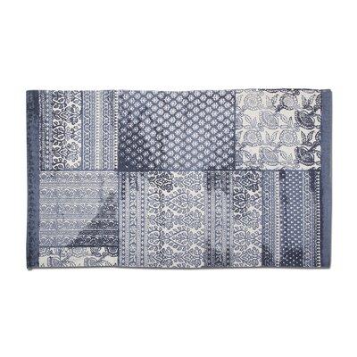 Patchwork Hand-Woven Cotton Indigo Area Rug