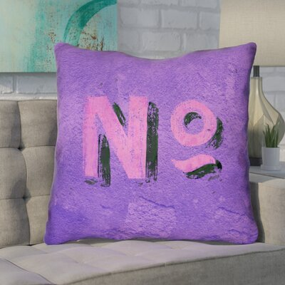 Enciso Graphic Wall Euro Pillow Color: Purple/Pink