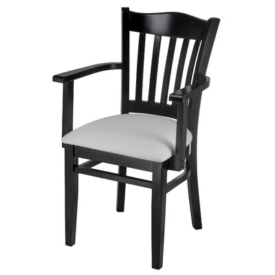 Fatuberlio Solid Wood Dining Chair Upholstery Color: Off white, Frame Color: Black