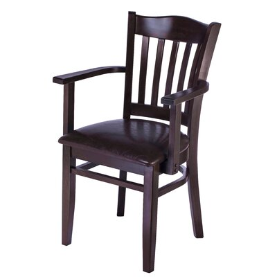 Fatuberlio Solid Wood Dining Chair Upholstery Color: Chocolate, Frame Color: Dark Mahogany