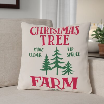 Tree Farm Plaid Throw Pillow Size: 16 x 16
