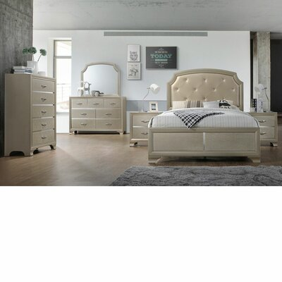 Mcphail Upholstered Panel Bed Size: Queen