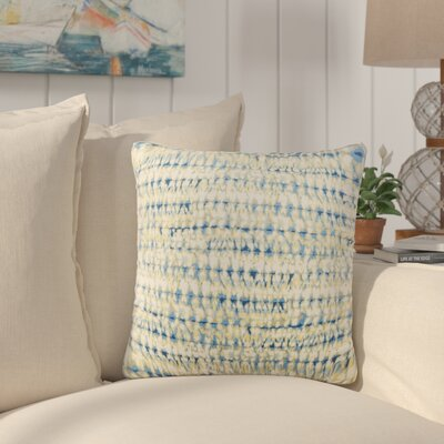 Dov Outdoor Throw Pillow Color: Blue, Size: 20 H x 20 W