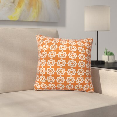 Moroccan Mirage Throw Pillow Size: 16 H x 16 W, Color: Orange