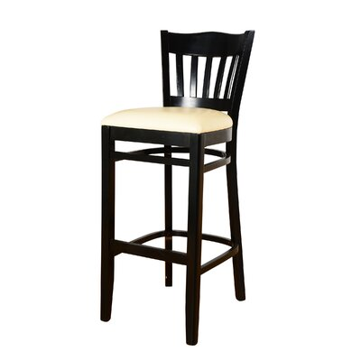 Fatuberlio 30 Bar Stool Upholstery Color: Off white, Frame Color: Black