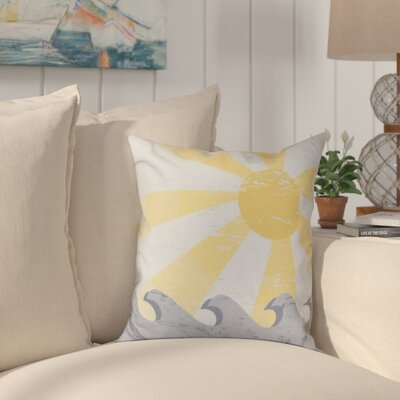 Pembrook Sunbeams Geometric Outdoor Throw Pillow Size: 18 H x 18 W, Color: Yellow