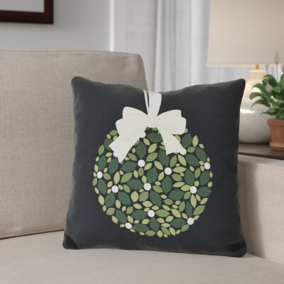 Mistletoe Me Throw Pillow Size: 16 H x 16 W, Color: Black