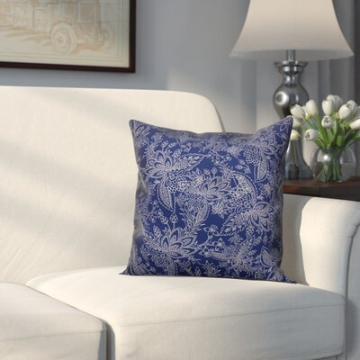 Kepner Paisley Throw Pillow Color: Navy, Size: 20 x 20, Type: Pillow Cover