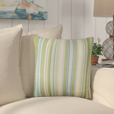 Henderson Striped Throw Pillow Color: Green