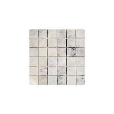 Imperial Carrara 2 x 2 Marble Mosaic Tile in White