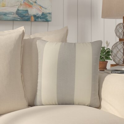 Lozier Striped Throw Pillow Color: Gray Beachwood