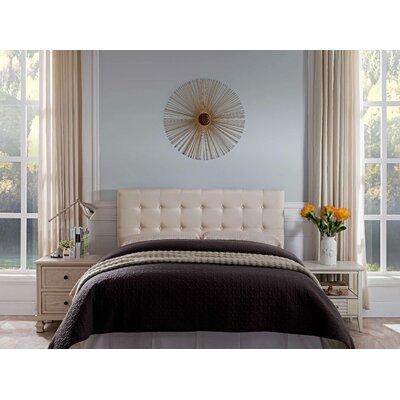 Frary Upholstered Panel Headboard Upholstery: Beige