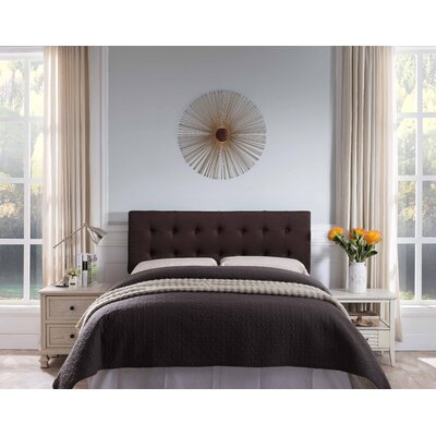 Frary Upholstered Panel Headboard Upholstery: Brown