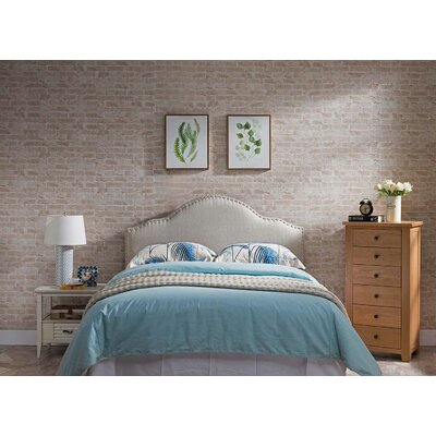 Frasher Upholstered Panel Headboard Upholstery: Cream