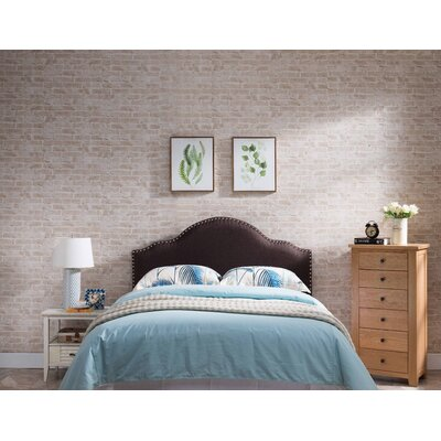 Frasher Upholstered Panel Headboard Upholstery: Brown