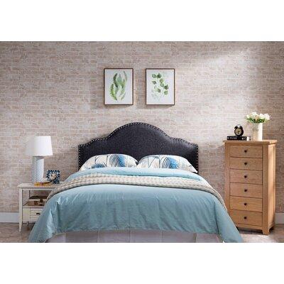 Frasher Upholstered Panel Headboard Upholstery: Gray