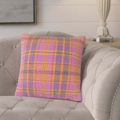 Tschaenn Plaid Throw Pillow Color: Pink