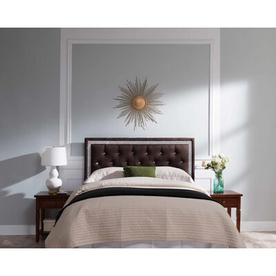 Mcmorris Diamond Upholstered Panel Headboard Upholstery: Brown