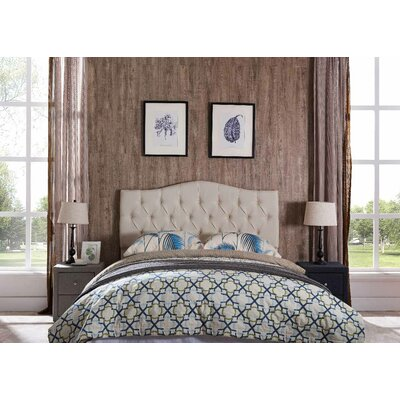 Frausto Upholstered Panel Headboard Upholstery: Beige