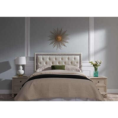 Mcmorris Diamond Upholstered Panel Headboard Upholstery: White