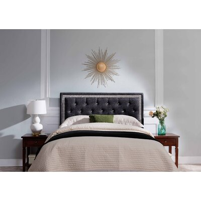 Mcmorris Diamond Upholstered Panel Headboard Upholstery: Gray