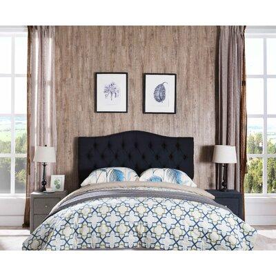Frausto Upholstered Panel Headboard Upholstery: Black