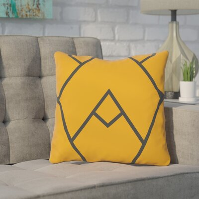 Barbagallo Polyester Throw Pillow Size: 18 H x 18 W, Color: Orange