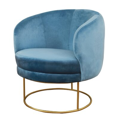 Holloman Club Chair Upholstery: Blue