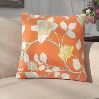 Gualtiero Floral Cotton Throw Pillow Color: Orange