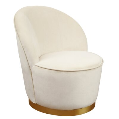 Hollinger Barrel Chair Upholstery: Ivory