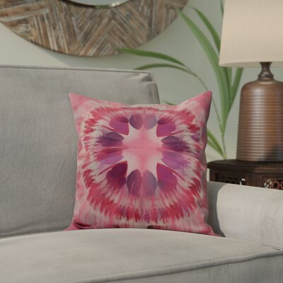 Armstrong Shibori Burst Throw Pillow Size: 18 H x 18 W, Color: Pink