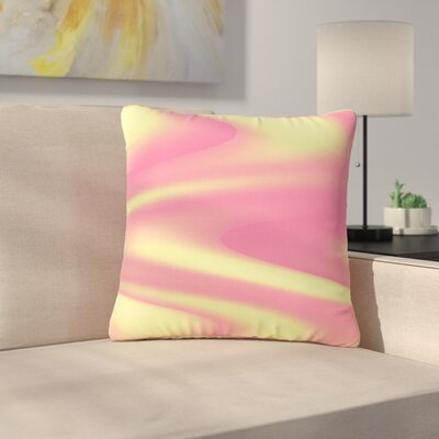 Sylvia Coomes Sherbert Swirl Outdoor Throw Pillow Size: 18 H x 18 W x 5 D