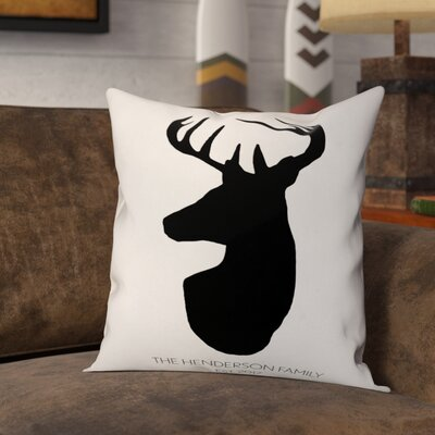 Mentzer Deer Head Throw Pillow