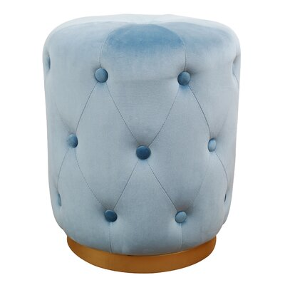Holliman Pouf Upholstery: Blue