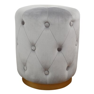 Holliman Pouf Upholstery: Gray