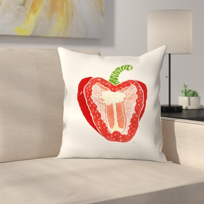 Pepper Throw Pillow Size: 18