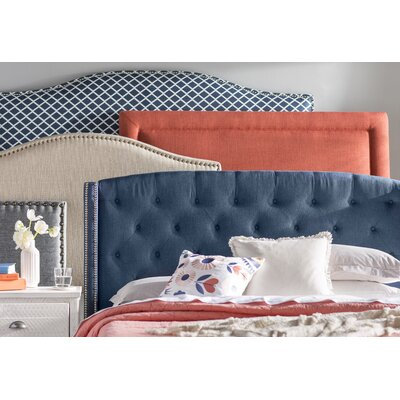 Cansler Border Upholstered Panel Headboard Size: Queen, Upholstery: Zuma Atomic