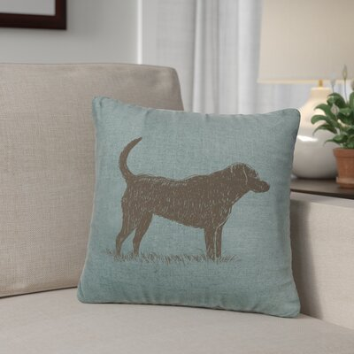 Fendley Lab Throw Pillow Color: Ocean