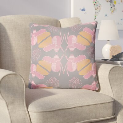 Colindale Square Throw Pillow Size: 20 H x 20 W x 4 D, Color: Grey