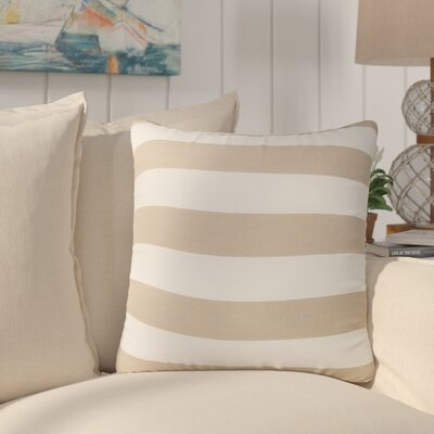 Stowe Striped Throw Pillow Pillow Cover Color: Taupe