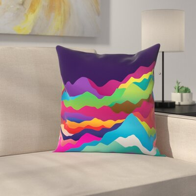 Joe Van Wetering Mountains of Sand Throw Pillow Size: 16 x 16