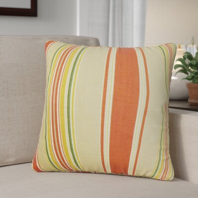 Ashprington Stripes Throw Pillow Color: Sunset, Size: 24 x 24