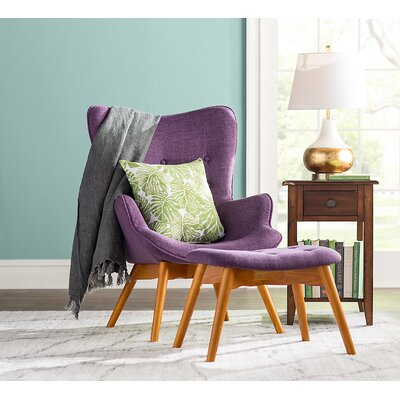 Canyon Vista Lounge Chair and Ottoman Upholstery: Purple