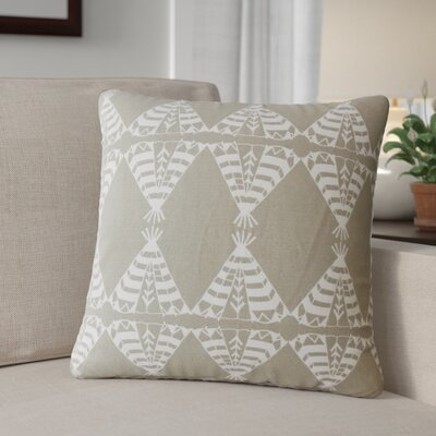 Roi Graphic Cotton Throw Pillow Color: Driftwood