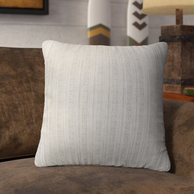 Couturier Square Throw Pillow with Zipper Color: Ivory, Size: 18 H x 18 W