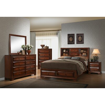 Platform 4 Piece Bedroom Set Bed Size: Queen