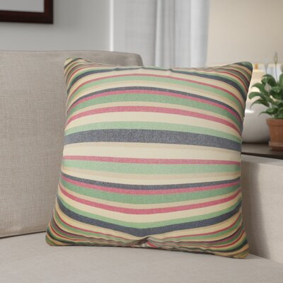 Rolon Stripes Throw Pillow Color: Brown