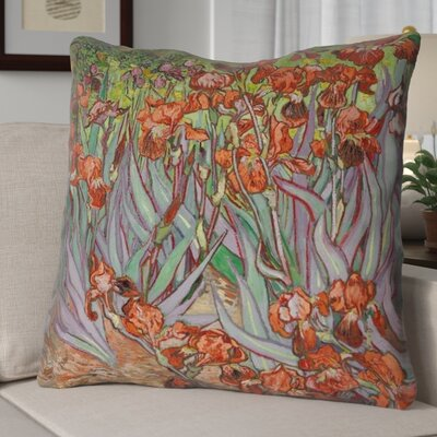 Morley Concealed Irises Euro Pillow Color: Orange